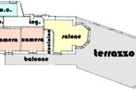 Alassio alloggio angolare con ampio terrazzo e box auto.