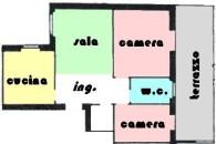 Centralissimo ampio alloggio con terrazzo vivibile.