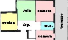 Centralissimo ampio alloggio con terrazzo vivibile. a  per