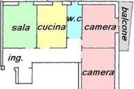 Zona centrale e comoda a tutti i servizi, ampio 4 locali angolari.