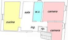 In piccola palazzina ristrutturata ampio 3 locali in perfette condizioni. a  per